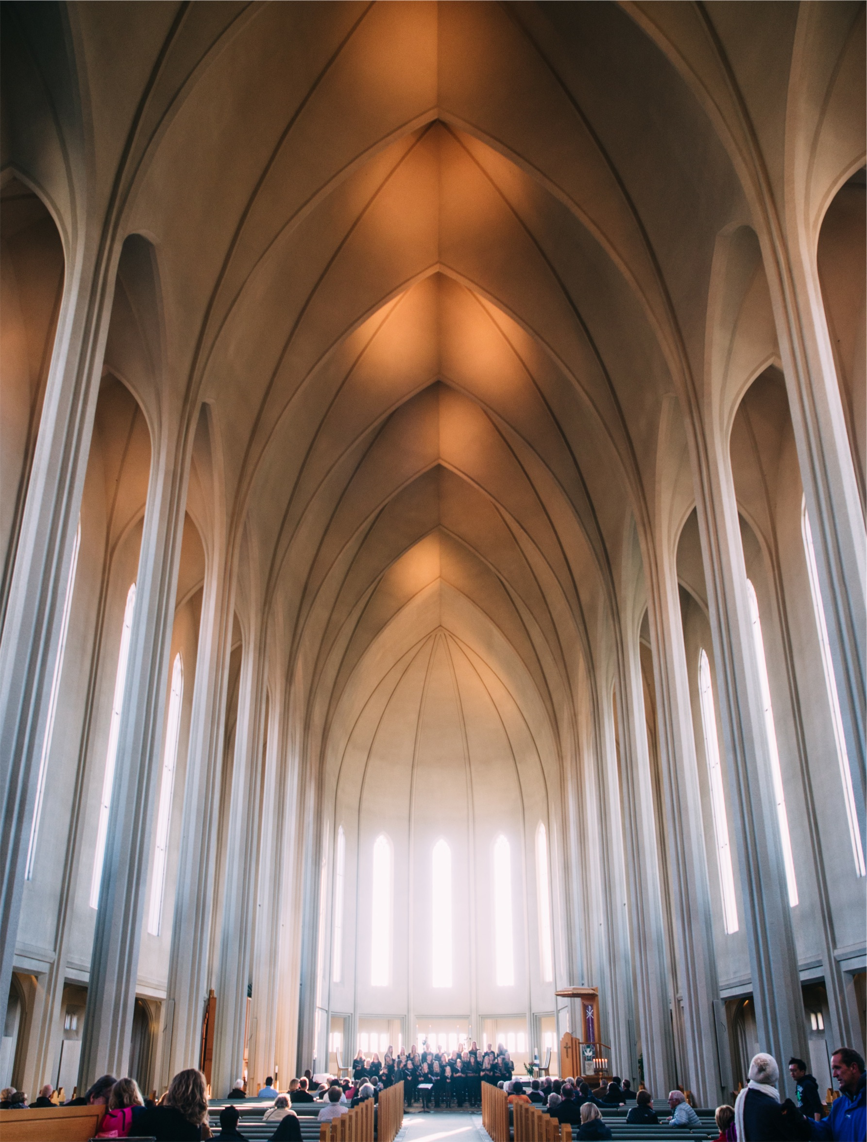 church with tall ceilings